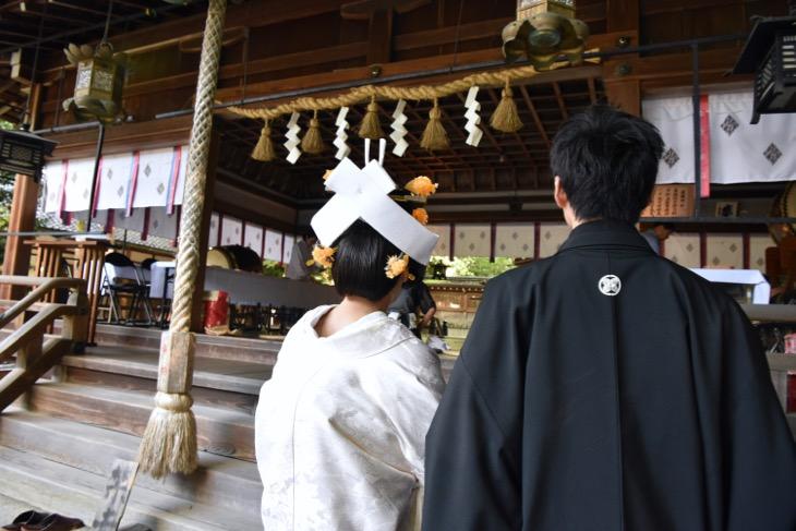 廣瀬大社での結婚式の写真