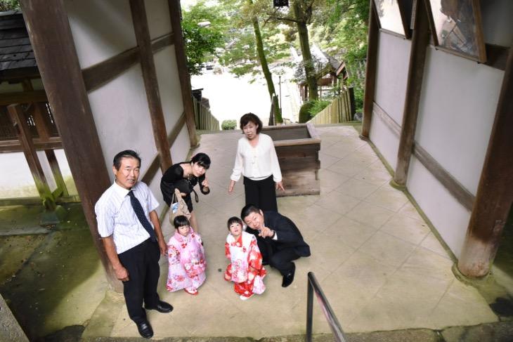 往馬大社の七五三のご祈祷と出張での記念写真
