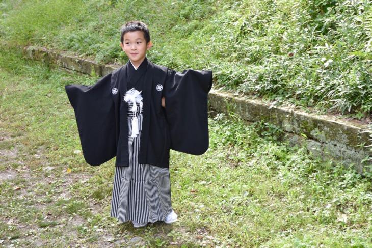 上賀茂神社で七五三の写真