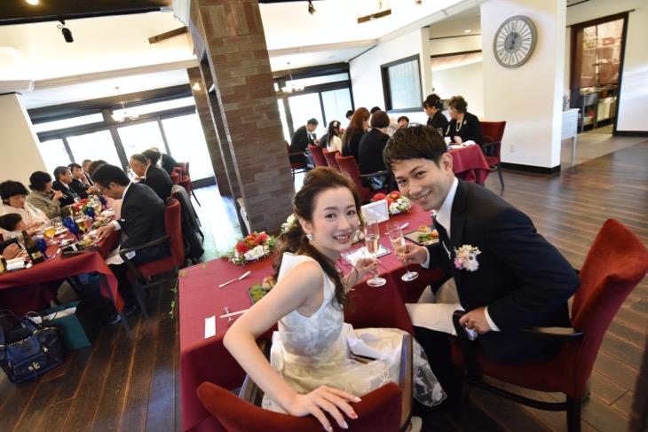 ル・レーヴ(Le reve) で食事会と石上神宮で結婚式の写真
