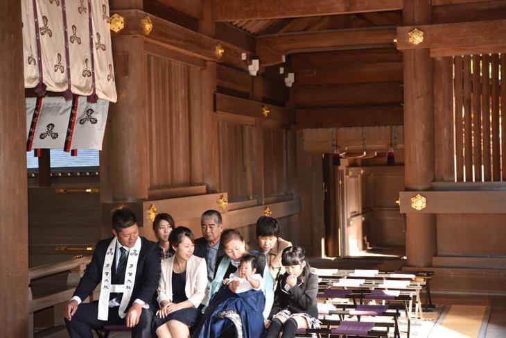 多賀大社のお宮参りの写真