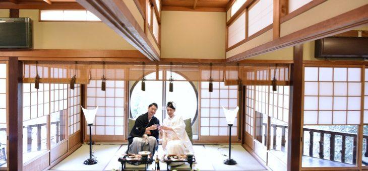 江戸三で食事会と氷室神社で結婚式