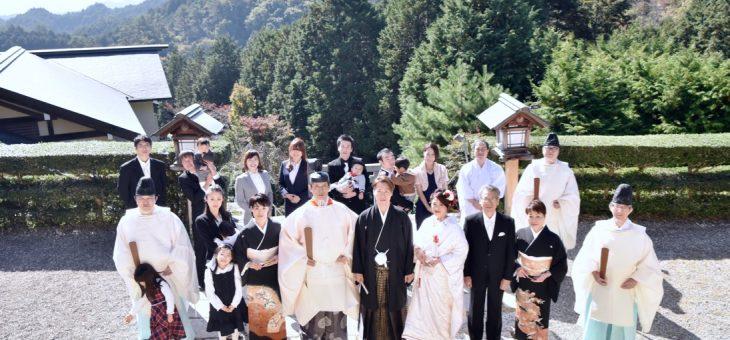 自然社本宮での結婚式