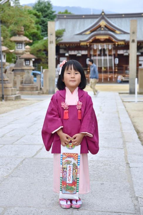 本住吉神社での七五三の記念写真