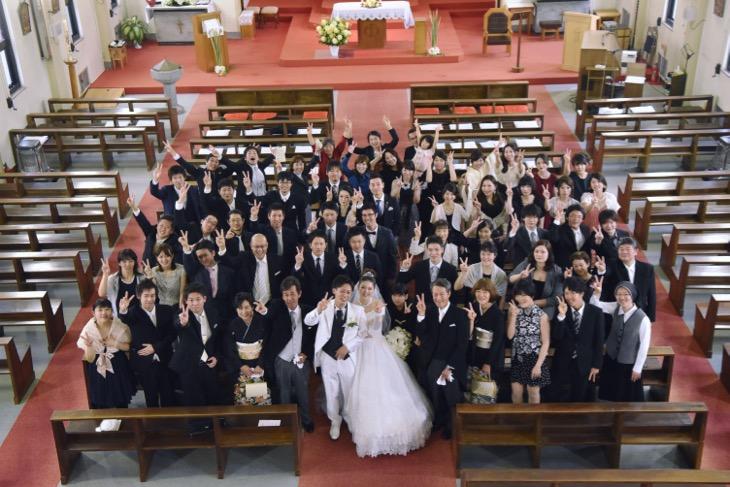 カトリック屋形町教会での結婚式の写真