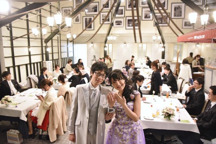 チャペルグレイスで結婚式の持ち込みカメラマンでの写真とWindsorでの披露宴の撮影