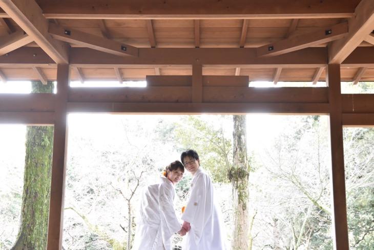 結婚式の前撮り和装のロケーションフォトの写真