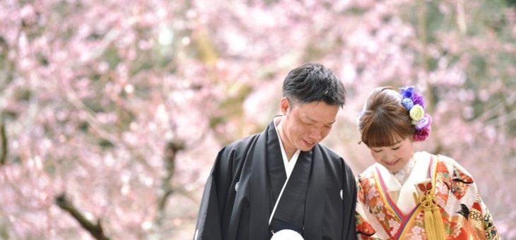 和装の前撮り奈良