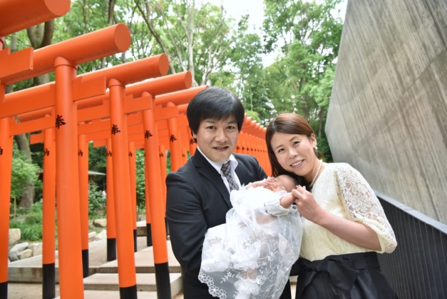 生田神社のお宮参りの写真