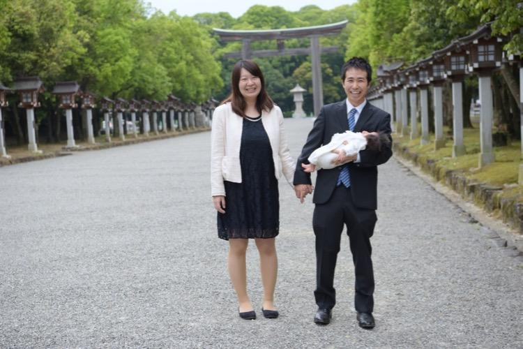 橿原神宮のお宮参りの写真