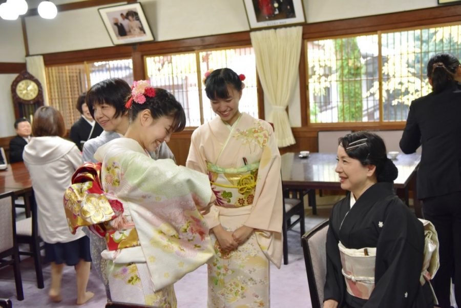 春日大社の結婚式の写真