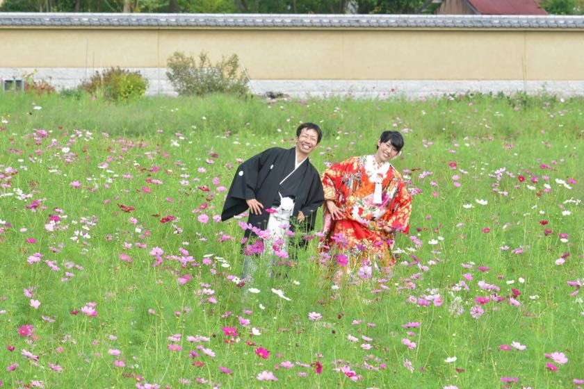 結婚式の前撮りロケーション和装撮影