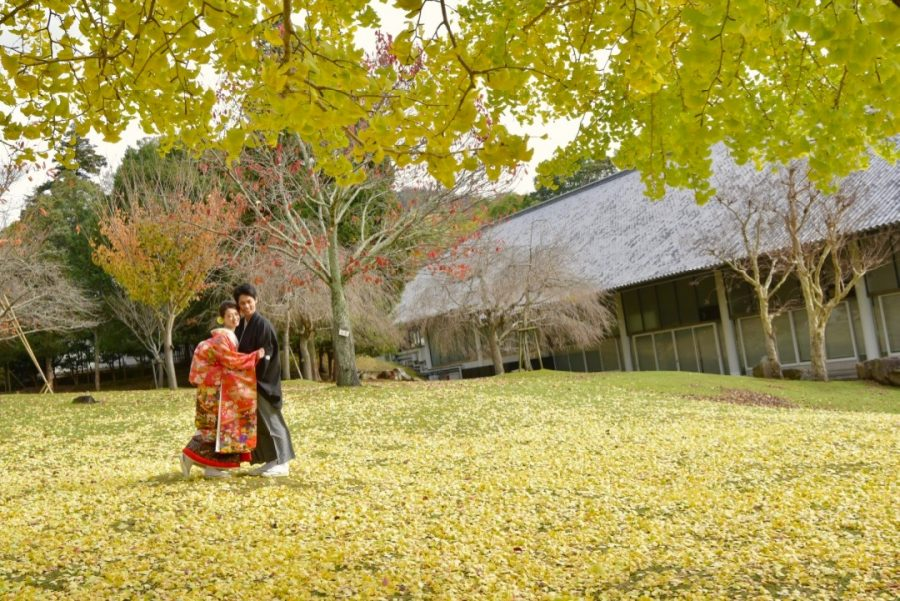 結婚式の前撮りを和装でのロケーション撮影