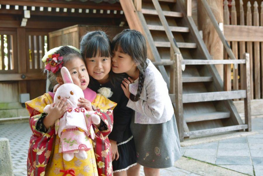 中山寺で七五三の撮影