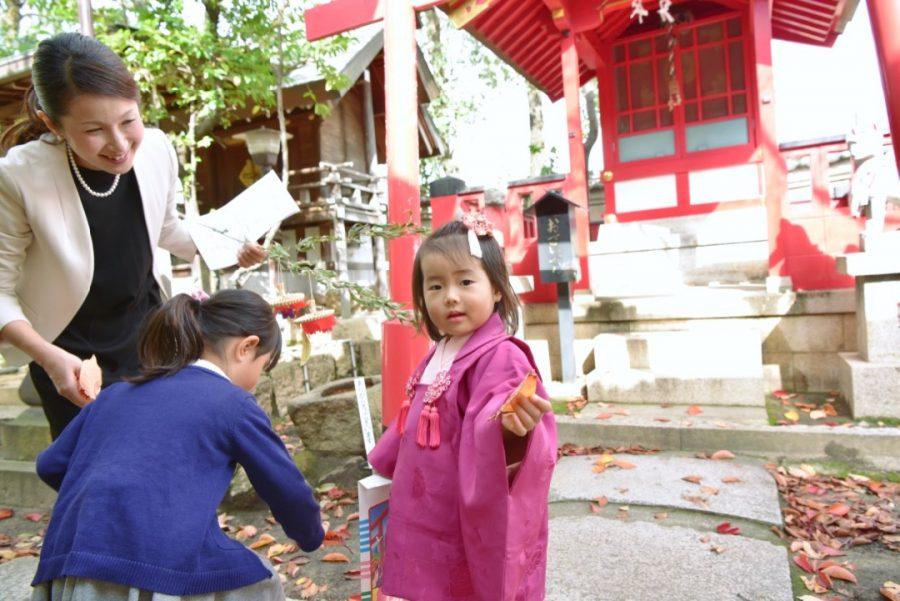 本住吉神社の七五三写真撮影