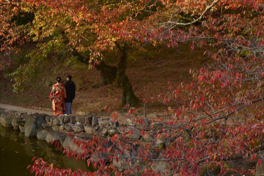 結婚式の前撮り和装ロケーションフォトの写真撮影