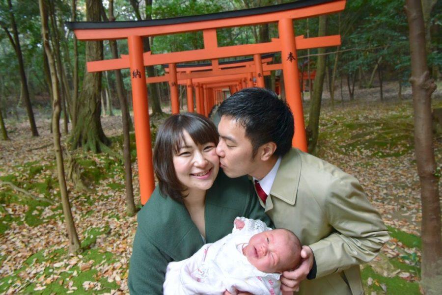 奈良県橿原市の橿原神宮でお宮参りの写真