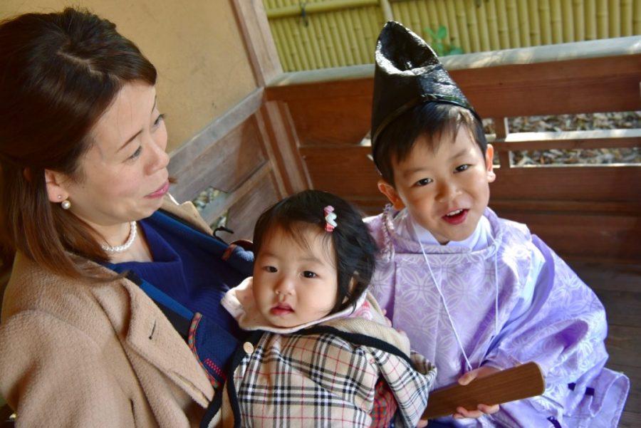 弓弦羽神社で七五三の衣装を借りてのご祈祷と写真