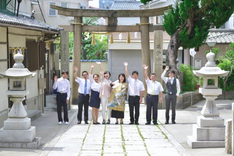 熊野大神宮でお宮参りの写真