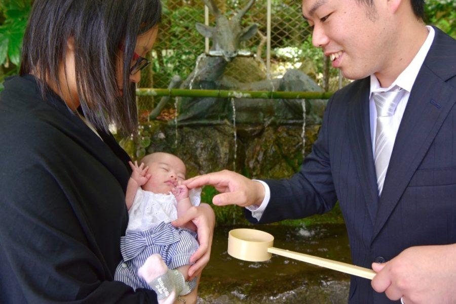 枚岡神社でお宮参りの写真