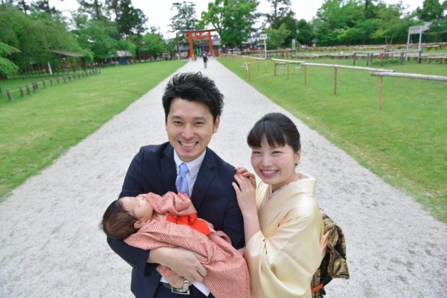 上賀茂神社のお宮参り写真