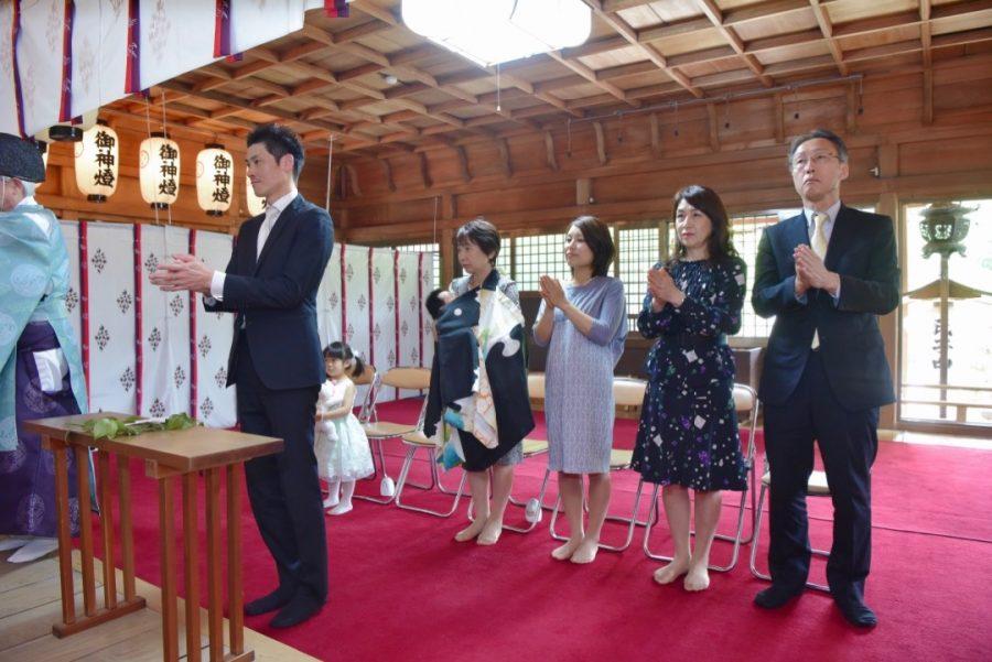 意賀美神社のお宮参り