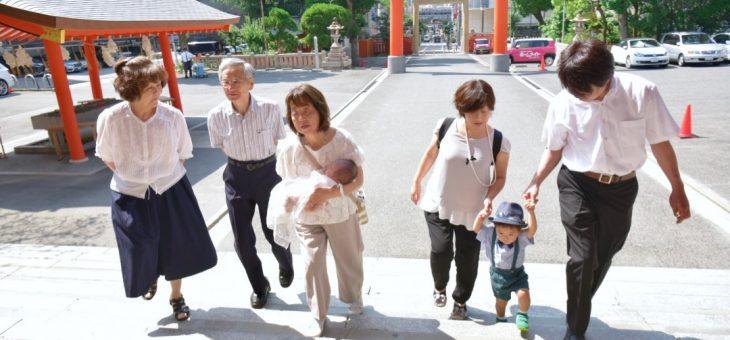 生田神社のお宮参り(2018.6.25)