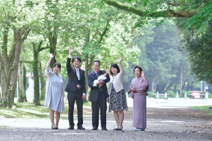 橿原神宮お宮参り記念写真