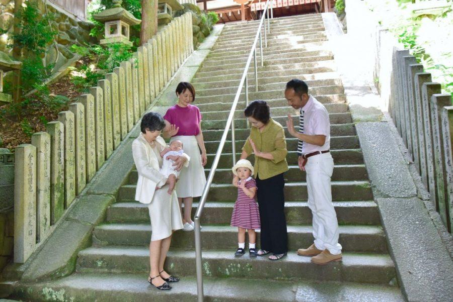 往馬大社のお宮参りの写真