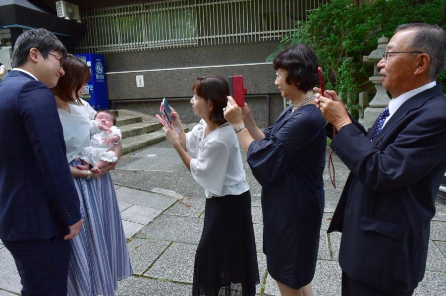 京都の東天王、岡崎神社のお宮参り