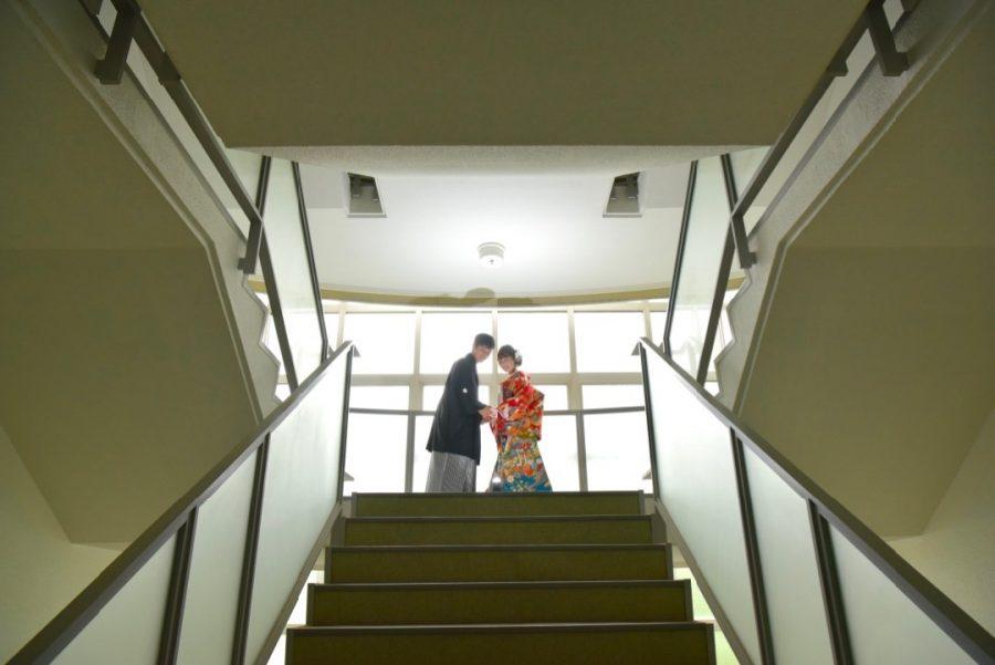 四天王寺羽曳丘高等学校での前撮り