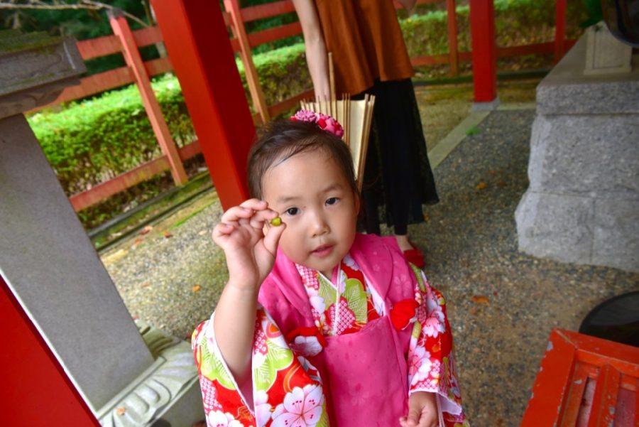 奈良県桜井市の安倍文殊院で七五三の写真撮影