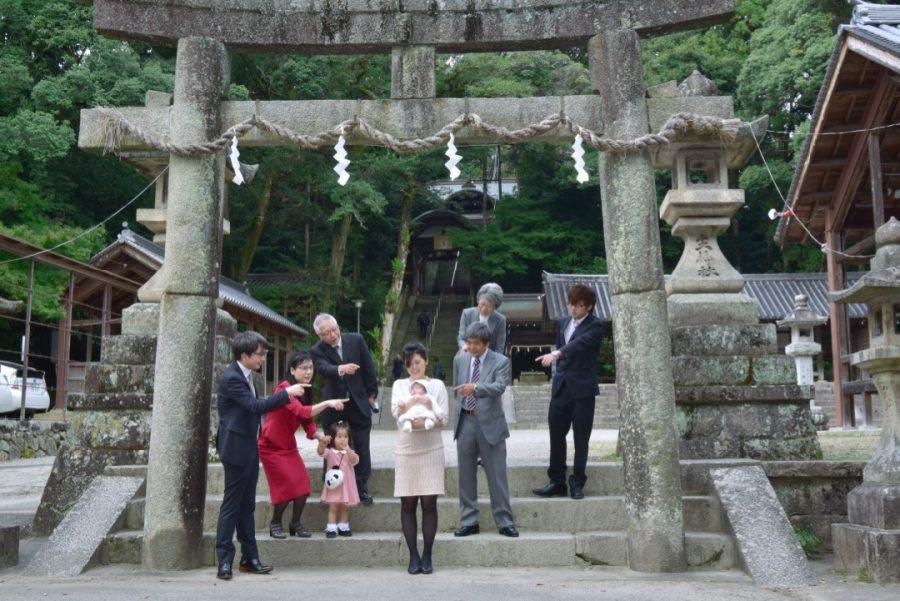往馬大社のお宮参り写真