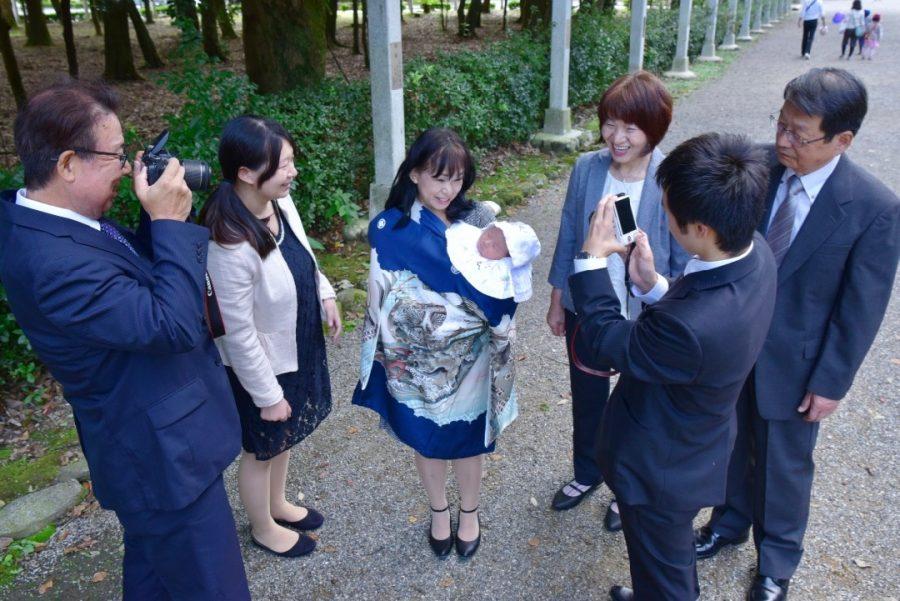 橿原神宮のお宮参り写真撮影