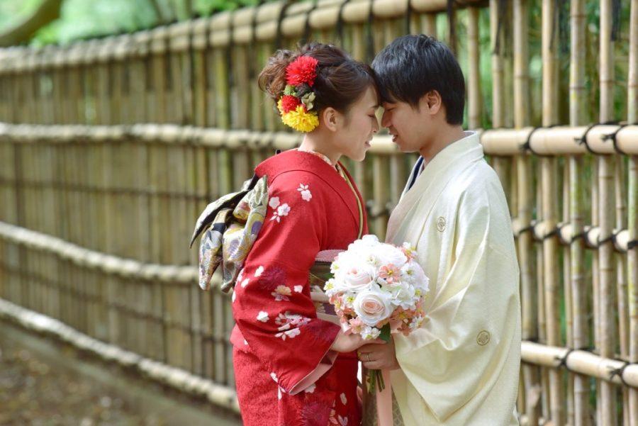 奈良で結婚式の前撮り写真撮影