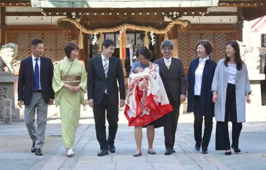 天神社のお宮参り写真