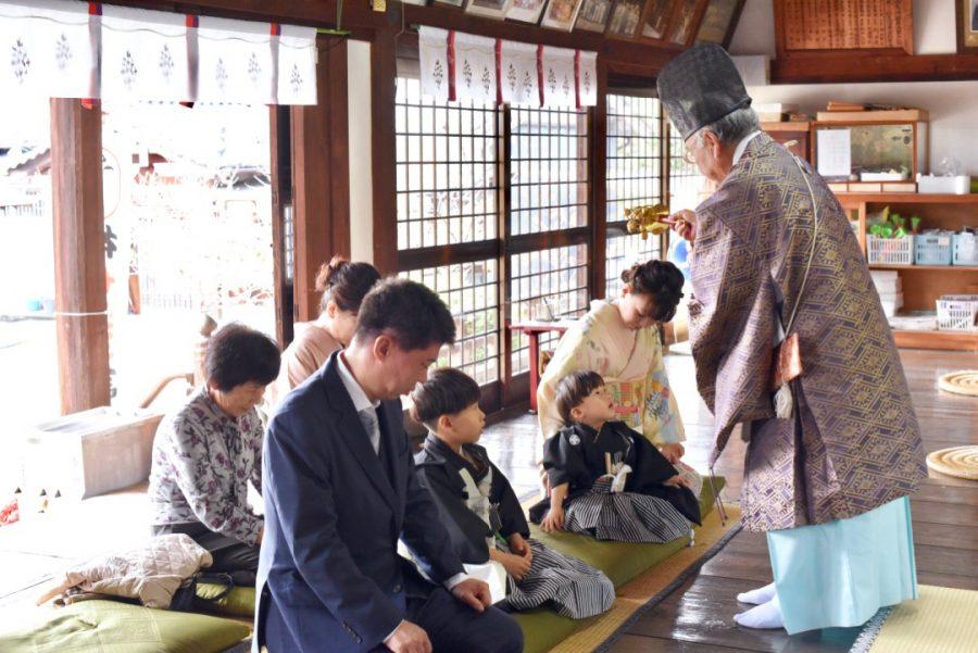 小泉神社の七五三
