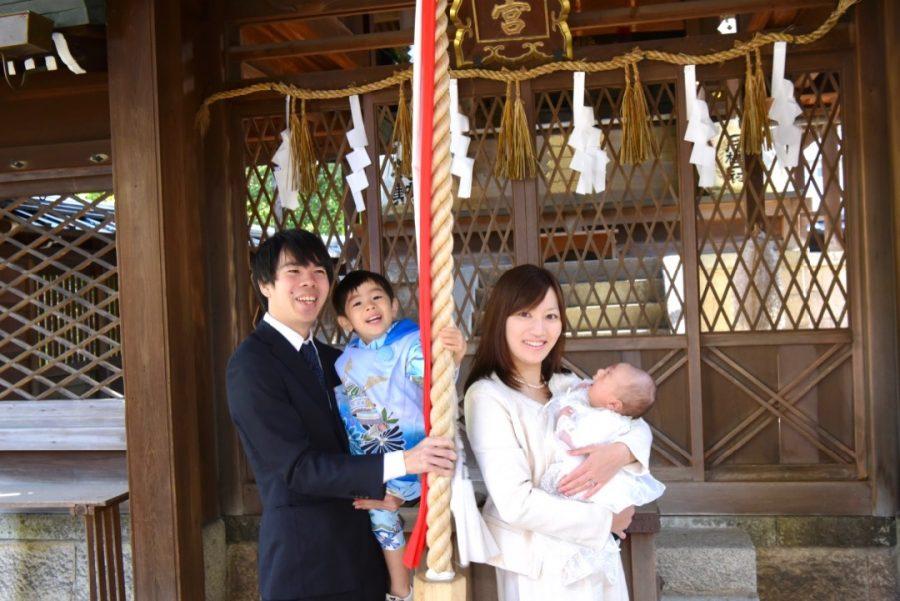 御香宮神社でお宮参りと七五三の記念写真撮影
