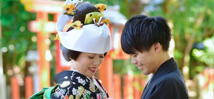衣装は張り切って3点の打掛を着る速玉大社の結婚式写真26枚