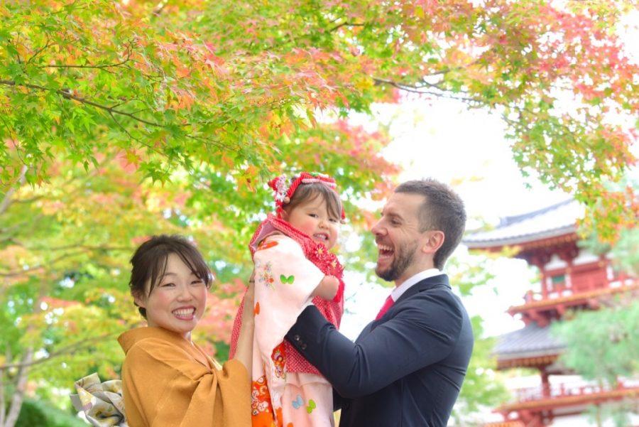 宇治上神社と平等院での七五三撮影