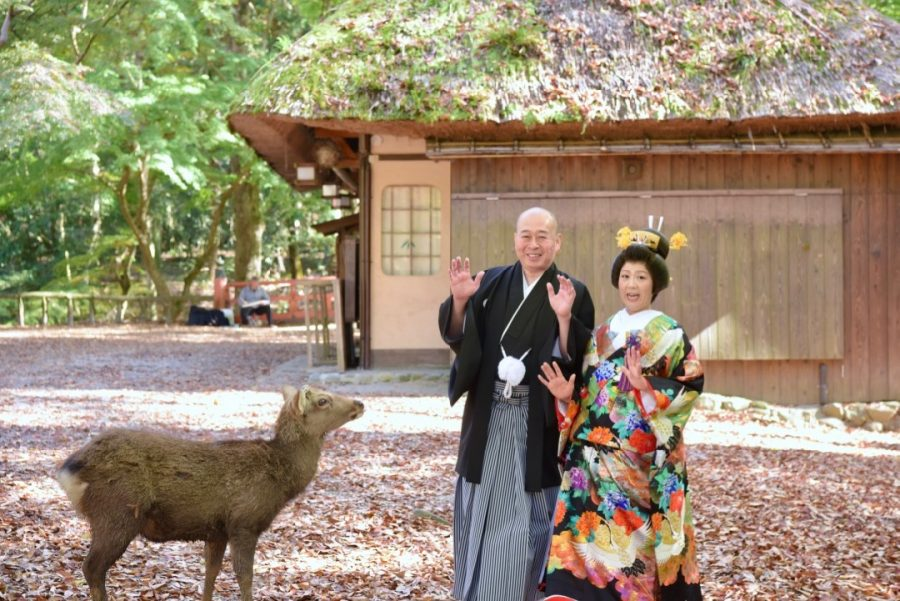 結婚式の和装前撮りロケーション撮影