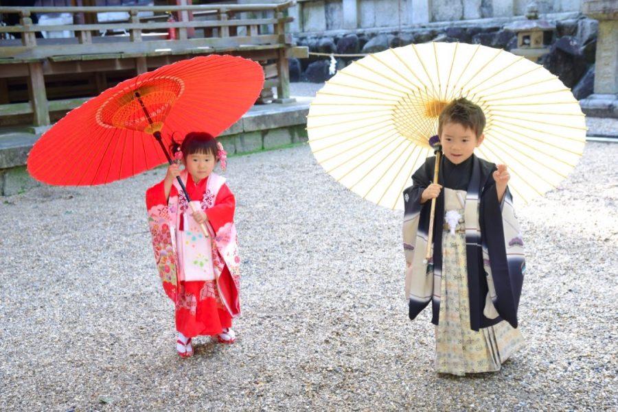 往馬大社(生駒神社)で七五三の写真撮影