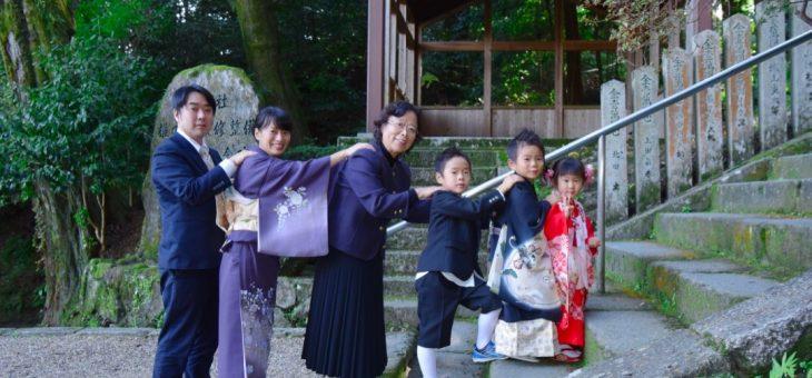 往馬大社(生駒神社)で七五三