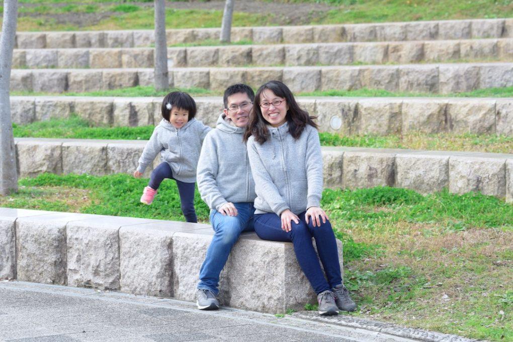 年賀状用の家族写真の撮影