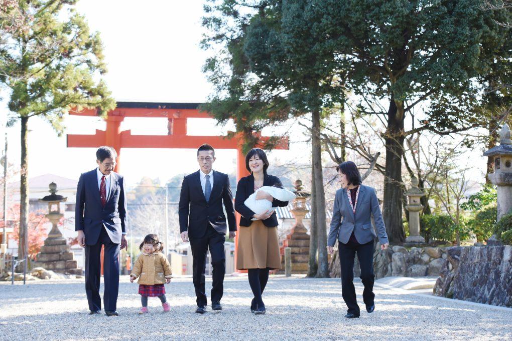 龍田大社のお宮参り写真