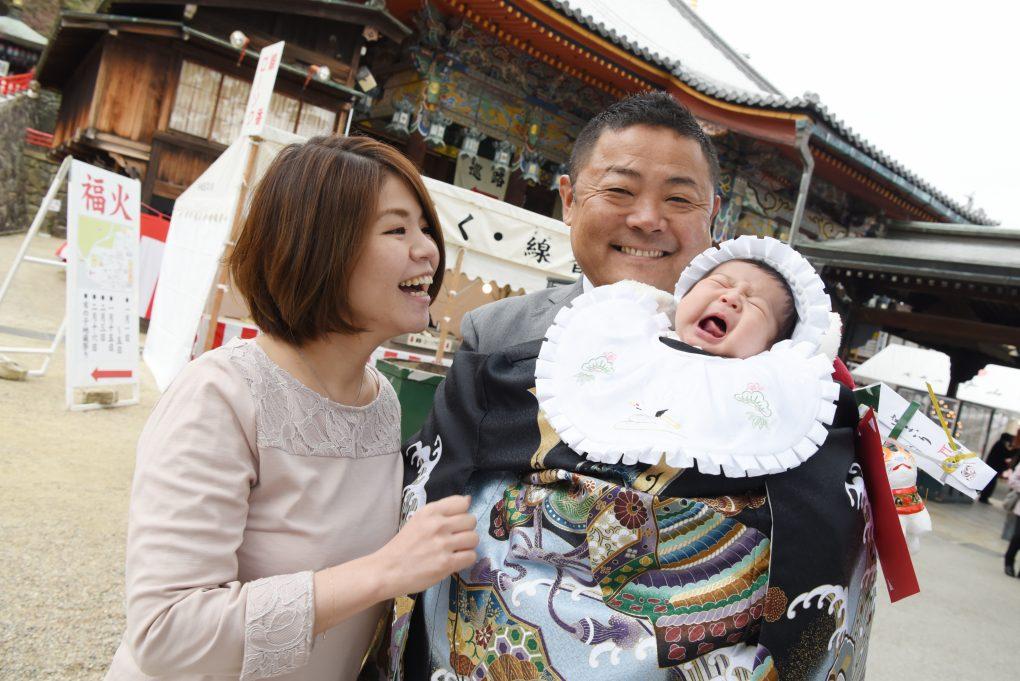 中山寺でお宮参りの写真