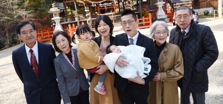 龍田大社のお宮参り(2018.12.8)