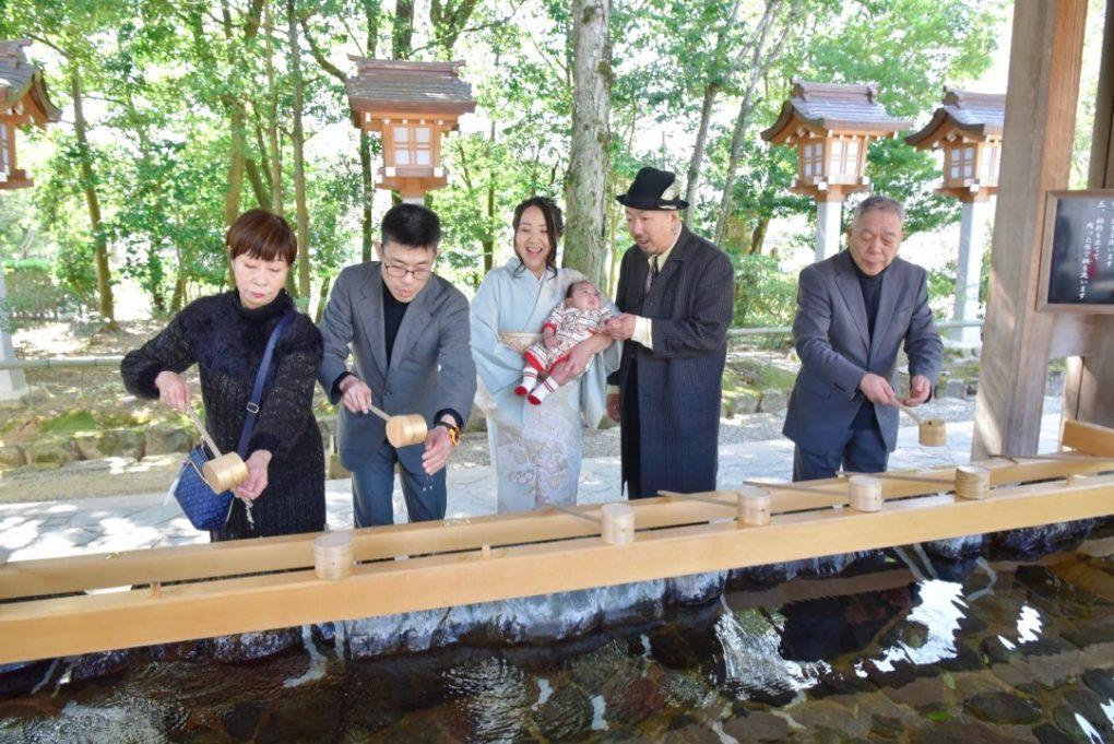 奈良県橿原市の橿原神宮でのお宮参り写真