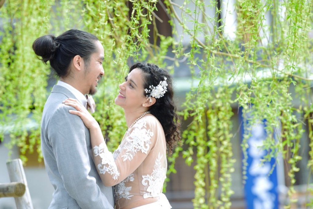 奈良公園吉城園での結婚式の撮影