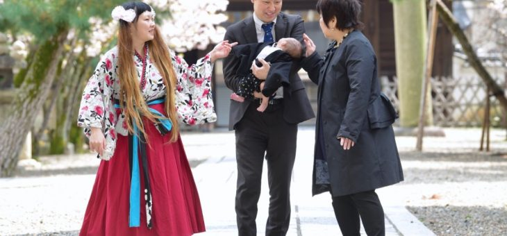御香宮神社のお宮参り(2019.4.8)